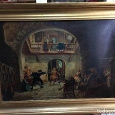 Arte: PRECIOSO OLEO SOBRE TABLA - MEDIDA MARCO 73X54 CM. Lote 122295071