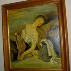 Arte: OLEO SOBRE LIENZO FIRMADO V. HERVAS 1947 ( 55 X 43 CTMS CON MARCO). Lote 122312691