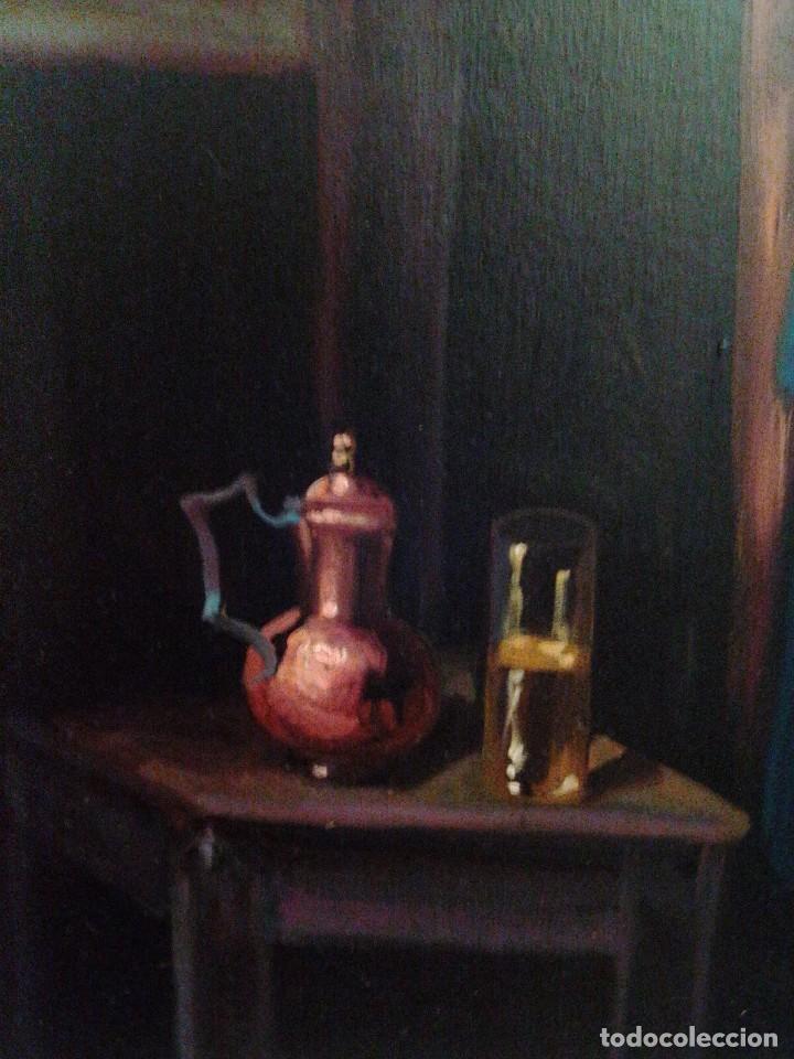 Arte: HOMBRE CON GUITARRITA. JOLOGA, LIENZO 65X54, F15. MARCO INCLUIDO. - Foto 5 - 122342047