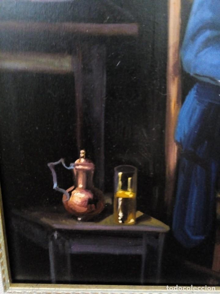 Arte: HOMBRE CON GUITARRITA. JOLOGA, LIENZO 65X54, F15. MARCO INCLUIDO. - Foto 15 - 122342047