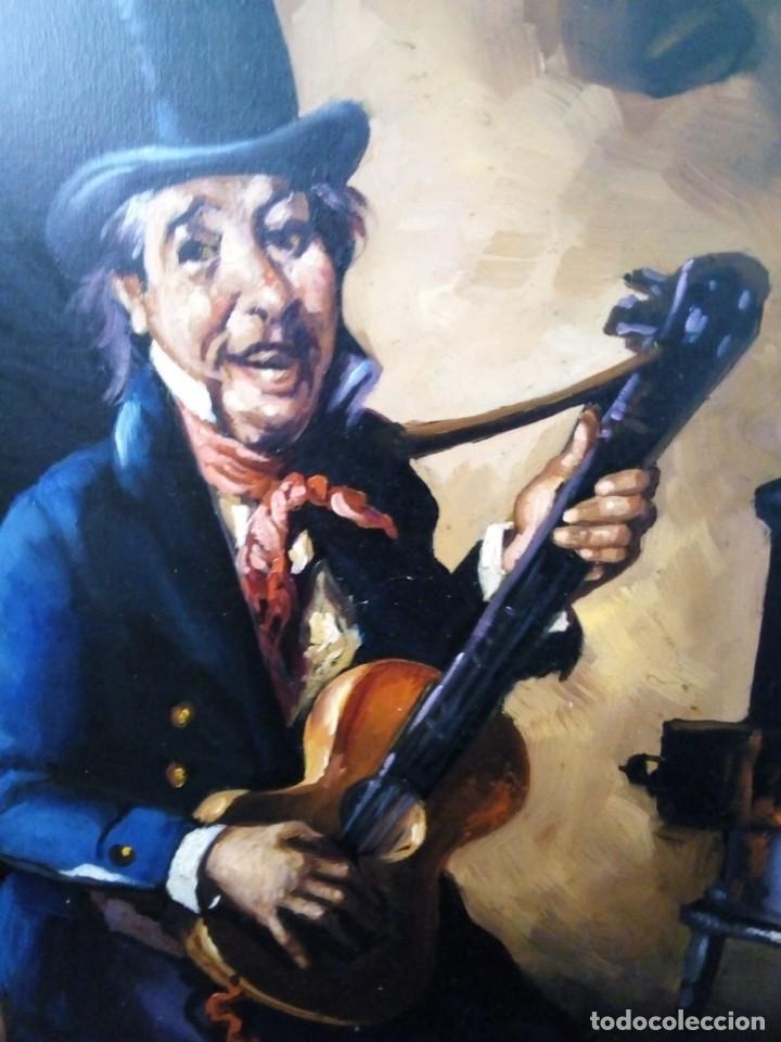 Arte: HOMBRE CON GUITARRITA. JOLOGA, LIENZO 65X54, F15. MARCO INCLUIDO. - Foto 17 - 122342047