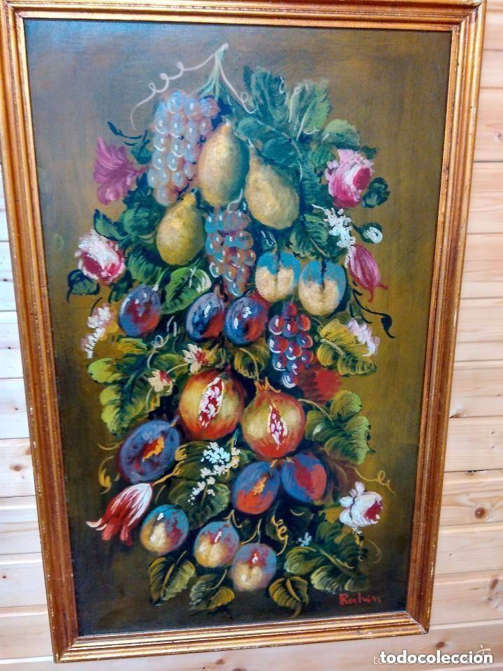 CUADRO AL OLEO CON GRANADAS. 90 CMS (Arte - Pintura - Pintura al Óleo Contemporánea )