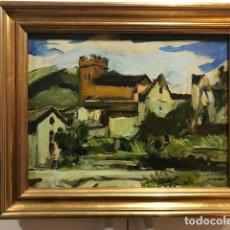 Arte: JOAN LAHOSA VALIMANYA (1902-1981): PAISAJE. ÓLEO SOBRE LIENZO 27,5 X 35, 5 CM. MITAD DEL S. XX. Lote 122681391