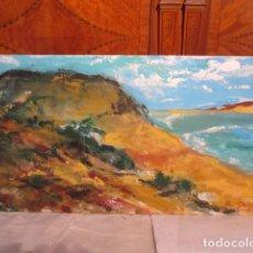 Arte: ÓLEO SOBRE TABLEX, PAISAJE, FIRMADO R. GRIJALBA. 60 X 30 CMS.. Lote 122757207