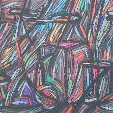 Arte: BODEGON ABSTRACTO DE JOSE SANZ SALA. PINTURA REALIZADA SOBRE TABLERO. Lote 122764195