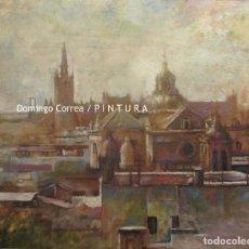 Arte: TEJADOS DE SEVILLA 01. ÓLEO SOBRE LIENZO. DOMINGO CORREA. 73 X 60 CM.. Lote 122817743