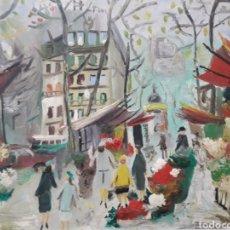 Arte: PINTURA PARISINA SOBRE LIENZO. AUTOR DESCONOCIDO.. Lote 122877963