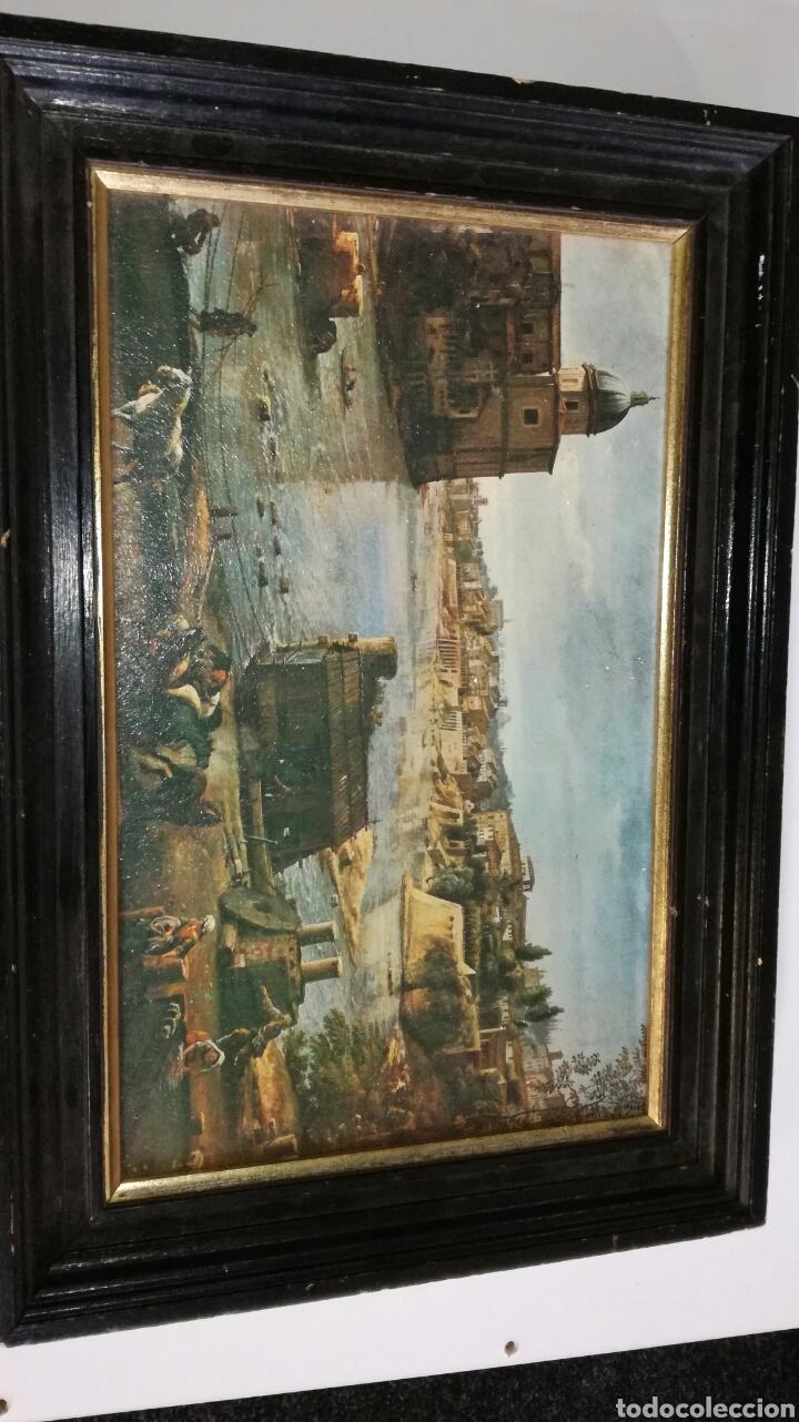 LAMINA DE PAPEL CON MARCO DE MADERA ,MIRAR OTROS PRODUCTOS MUY INTERESANTES (Arte - Pintura - Pintura al Óleo Antigua sin fecha definida)