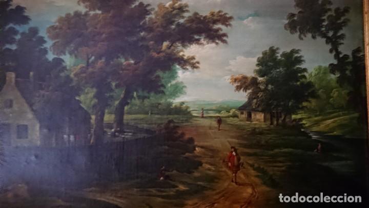 Arte: ÓLEO SOBRE LIENZO SIGLO XVIII ESCUELA HOLANDESA GRAN TAMAÑO - Foto 5 - 122990087