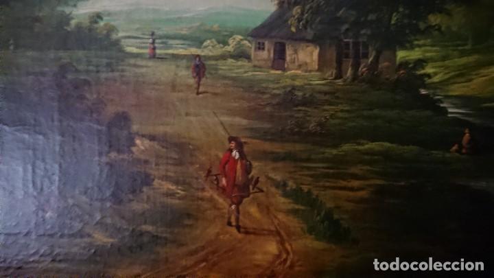 Arte: ÓLEO SOBRE LIENZO SIGLO XVIII ESCUELA HOLANDESA GRAN TAMAÑO - Foto 6 - 122990087