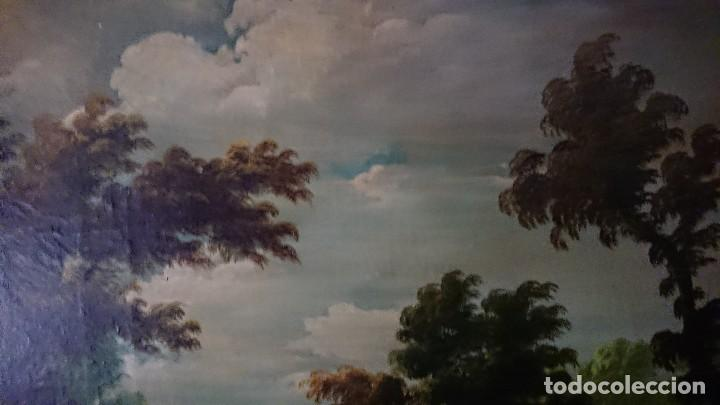 Arte: ÓLEO SOBRE LIENZO SIGLO XVIII ESCUELA HOLANDESA GRAN TAMAÑO - Foto 8 - 122990087