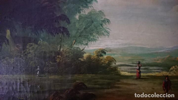 Arte: ÓLEO SOBRE LIENZO SIGLO XVIII ESCUELA HOLANDESA GRAN TAMAÑO - Foto 12 - 122990087