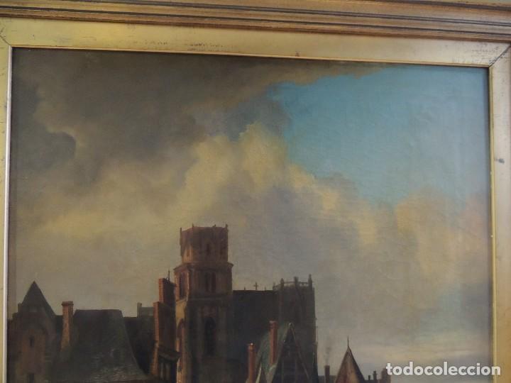 Arte: CUADRO OLEO ANTIGUO SOBRE LIENZO FIRMADO L M LEPIE 1876 - Foto 4 - 123040587