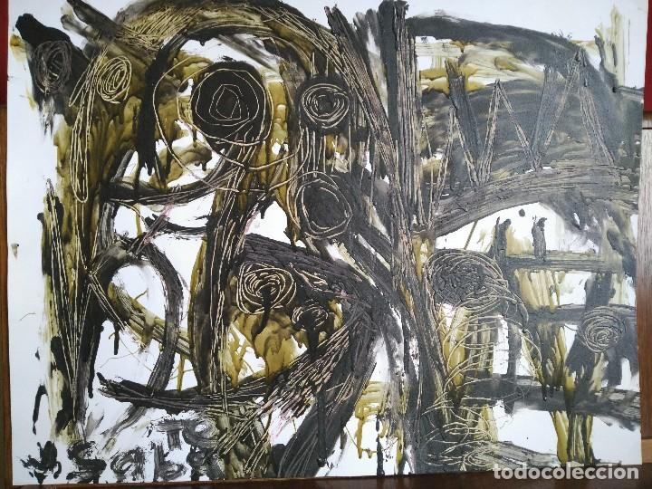 FIRMADO J. SABATÉ. ÓLEO SOBRE CARTULINA (POSIBLEMENTE JOAQUIM SABATÉ I NADAL) (Arte - Pintura - Pintura al Óleo Contemporánea )