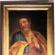 Arte: ÓLEO SOBRE LIENZO DEL SIGLO XVIII REPRESENTANDO A SAN PEDRO. Lote 123099371