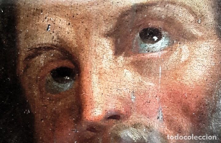 Arte: Óleo sobre lienzo del siglo XVIII representando a San Pedro - Foto 3 - 123099371
