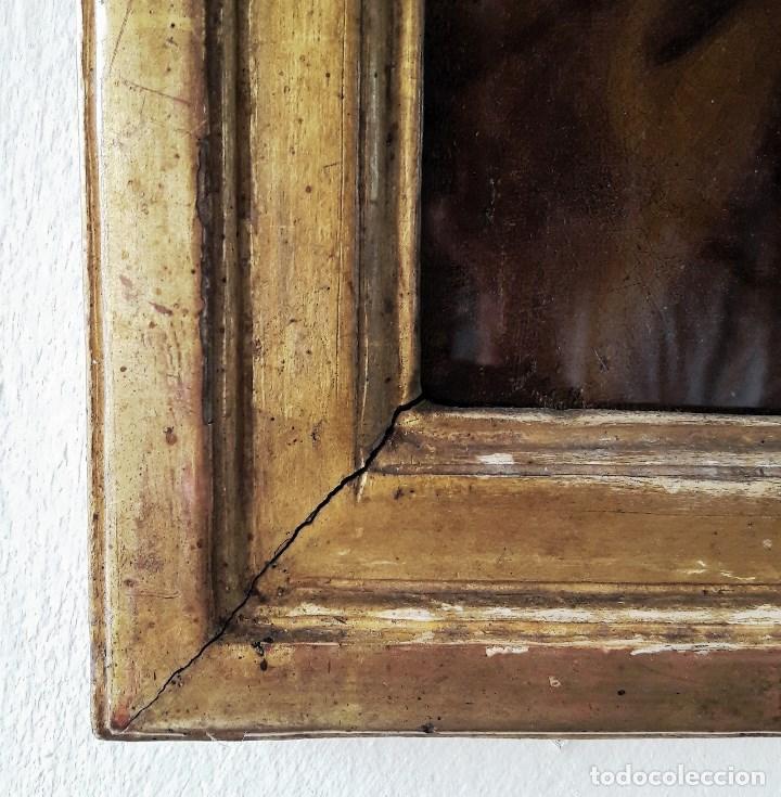 Arte: Óleo sobre lienzo del siglo XVIII representando a San Pedro - Foto 5 - 123099371