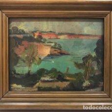Arte: L. COMAS: COSTA BRAVA. O/TABLA. 26 X 33,5 . . Lote 123151495