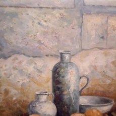 Arte: HERMOSO BODEGON,60/50 OLEO SOBRE LIENZO. Lote 123290038