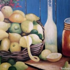 Arte: HERMOSO BODEGON,OLEO SOBRE LIENZO. Lote 123291734