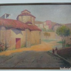 Arte: ÓLEO SOBRE TELA - PAISAJE CON NIÑOS - FIRMA J. PONS - AÑO 1941. Lote 149018630