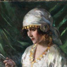 Arte: EDUARD VEITH (1856-1925) (ATRIBUÍDO) PINTOR AUSTRIACO - ÓLEO SOBRE TELA - RETRATO DE MUJER. Lote 123384707