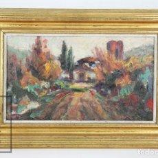 Arte: PINTURA AL ÓLEO SOBRE LIENZO ENMARCADA - ANTONI SOLÀ, SALLENT / TERRASSA - CAN ROURA / ROURE, 1962. Lote 123446751