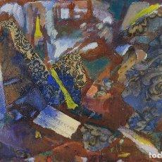 Arte: ISABEL SERRAHIMA (1934-1999) ÓLEO Y COLLAGE SOBRE LIENZO COMPOSICIÓN . Lote 123517559