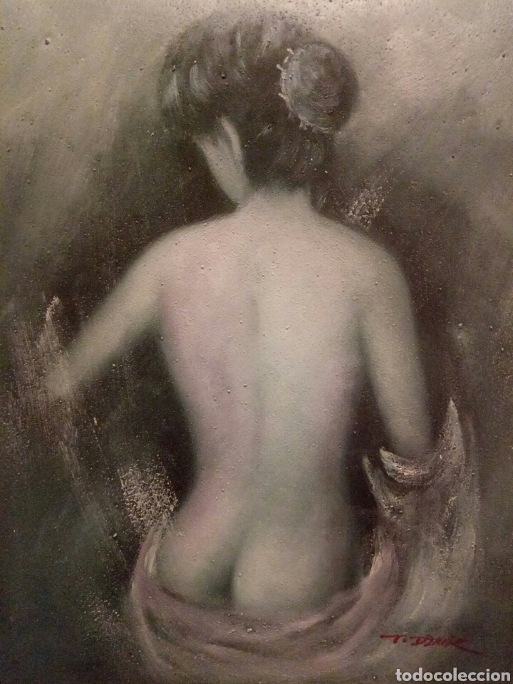 MUY BONITO DESNUDO,OLEO SOBRE LIENZO (Arte - Pintura - Pintura al Óleo Moderna sin fecha definida)