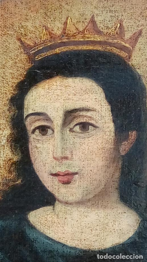 Arte: ÓLEO S/LIENZO-SANTA BÁRBARA-. ESCUELA ESPAÑOLA SIGLO XVIII. DIMENSIONES 84X62 CMS. - Foto 5 - 123549371