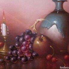 Arte: PRECIOSO BODEGON CON PALMATORIA,OLEO SOBRE LIENZO. Lote 123549599