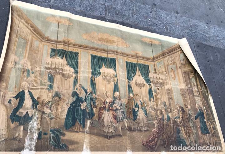 Arte: Lienzo con antigua pintura Principios del SXX aprox - Foto 2 - 123573375