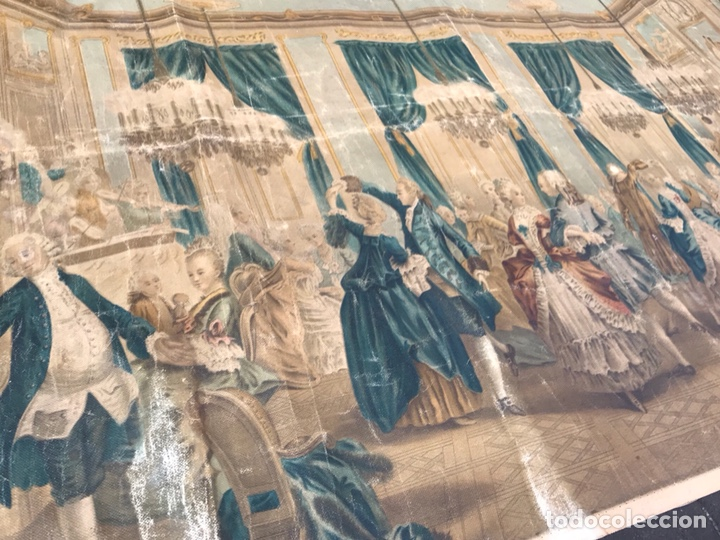 Arte: Lienzo con antigua pintura Principios del SXX aprox - Foto 3 - 123573375