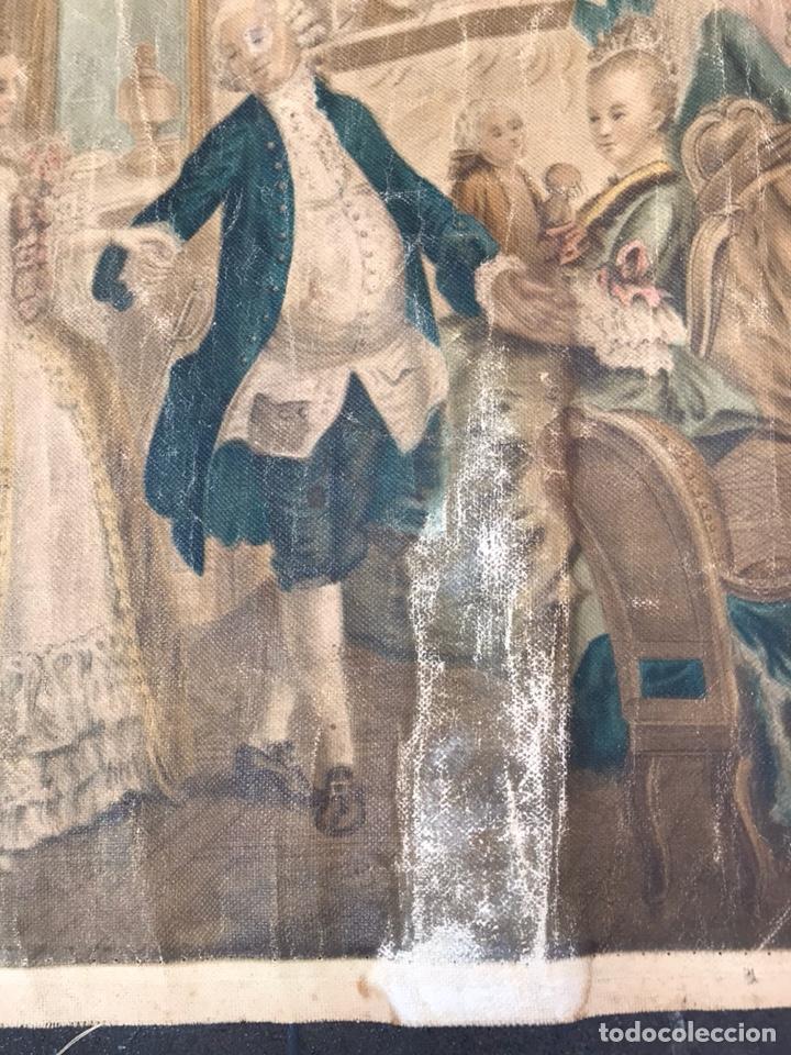 Arte: Lienzo con antigua pintura Principios del SXX aprox - Foto 4 - 123573375