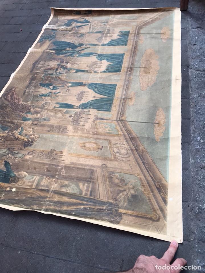 Arte: Lienzo con antigua pintura Principios del SXX aprox - Foto 5 - 123573375