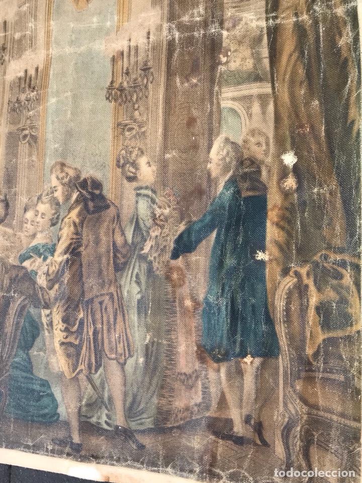 Arte: Lienzo con antigua pintura Principios del SXX aprox - Foto 6 - 123573375