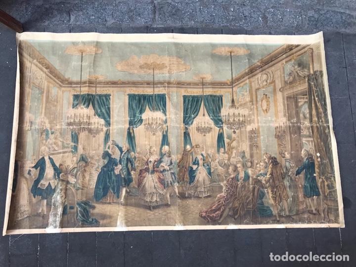 Arte: Lienzo con antigua pintura Principios del SXX aprox - Foto 7 - 123573375