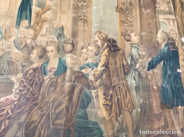 Arte: Lienzo con antigua pintura Principios del SXX aprox - Foto 8 - 123573375