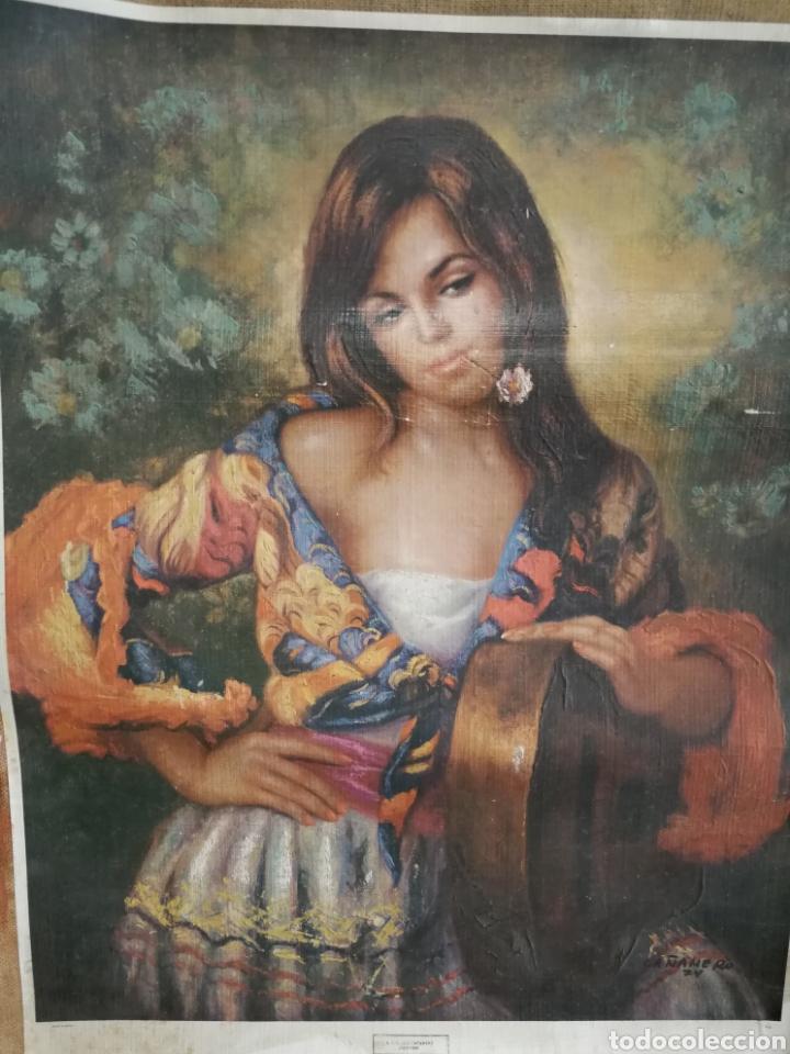 Arte: ÓLEO SOBRE LAMINA PEGADA A LIENZO DE SACO CAÑAMERO - Foto 2 - 123606072