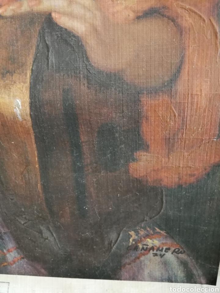 Arte: ÓLEO SOBRE LAMINA PEGADA A LIENZO DE SACO CAÑAMERO - Foto 5 - 123606072