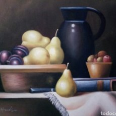 Arte: BODEGON IMPRESIONISTA, OLEO SOBRE LIENZO. Lote 123710716