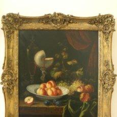 Arte: GRAN PINTURA ÓLEO SIGLO XVIII, BODEGÓN CON COPA NAUTILUS, PROBABLEMENTE FLAMENCA. Lote 124014847