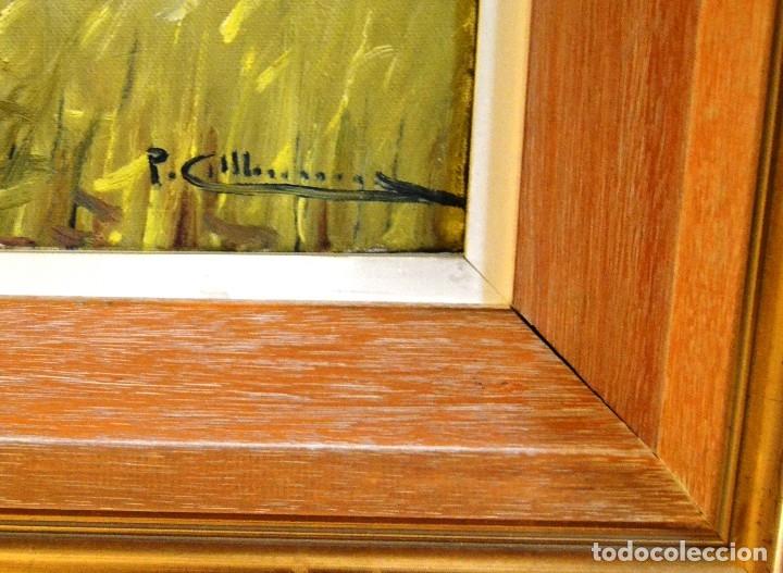 Arte: pere colldecarrera Olot 1934. Paisaje de Joanetes , Olot 100 x 50 - Foto 3 - 92126705