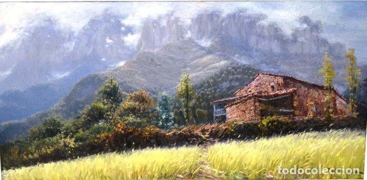 PERE COLLDECARRERA OLOT 1934. PAISAJE DE JOANETES , OLOT 100 X 50 (Arte - Pintura - Pintura al Óleo Contemporánea )
