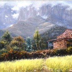 Arte: PERE COLLDECARRERA OLOT 1934. PAISAJE DE JOANETES , OLOT 100 X 50. Lote 92126705