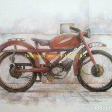 Arte: 'MOTOCICLETA I' ÓLEO SOBRE LIENZO. 130 X 97 CM. MOTO. REALISMO.. Lote 124178227