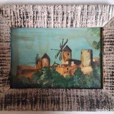 Arte: PEQUEÑA PINTURA SOBRE TABLA ENMARCADA DE ÉPOCA. Lote 124219571