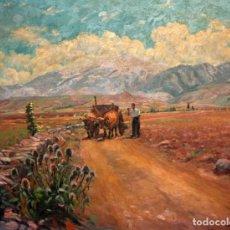 Arte: JOSEP ARIET OLIVES (BARCELONA, 1885 - LLEIDA, ??) OLEO TELA. BELLVER DE LA CERDANYA. Lote 124403763