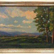 Arte: GALWEY (1864-1931) PAISAJE ÓLEO SOBRE LIENZO 40 X 54 CM. Lote 122431671