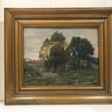 Arte: TOMAS VIVER I AYMERICH (1876-1951) : PAISAJE. ÓLEO/TABLA 26 X 33. Lote 124421419